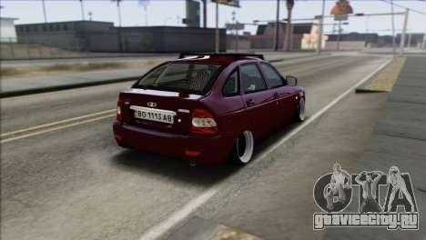 Lada Priora Ukrainian Stance для GTA San Andreas вид сзади слева