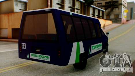 GTA 5 Rental Shuttle Bus Touchdown Livery для GTA San Andreas вид слева