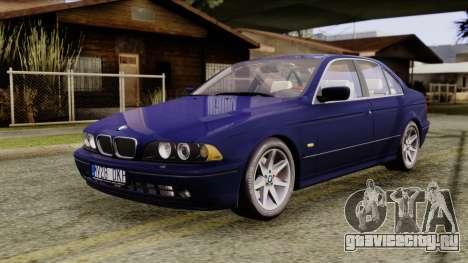 BMW 530D E39 2001 Stock для GTA San Andreas вид справа