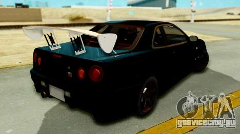 Nissan Skyline GT-R Nismo Tuned для GTA San Andreas вид слева