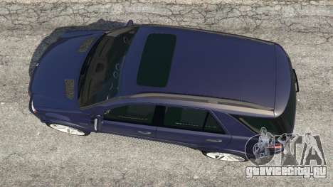 Mercedes-Benz ML63 (W164) 2009 для GTA 5 вид сзади