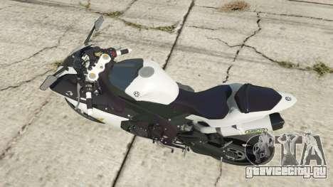 Yamaha YZF-R1 2014 для GTA 5 вид сзади