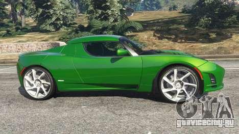 Tesla Roadster Sport 2011 для GTA 5 вид слева