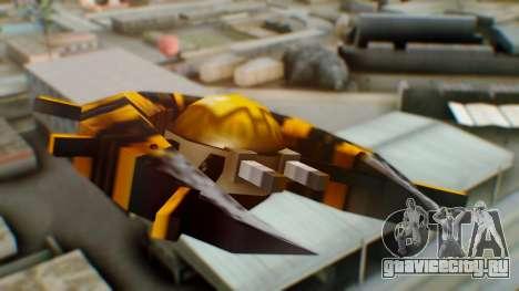 Alien Ship Yellow-Black для GTA San Andreas вид сзади слева
