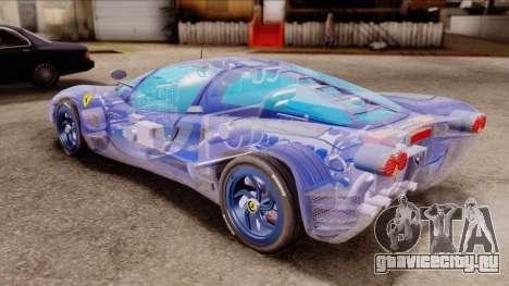 Ferrari P7 Crystal для GTA San Andreas вид сзади слева