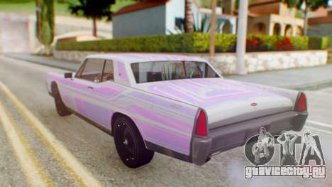 GTA 5 Vapid Chino Tunable PJ для GTA San Andreas вид сверху