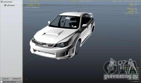 2011 Subaru Impreza STI для GTA 5 вид справа