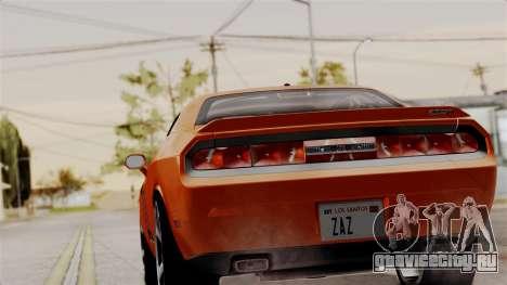 Dodge Challenger SRT-8 2010 для GTA San Andreas вид слева