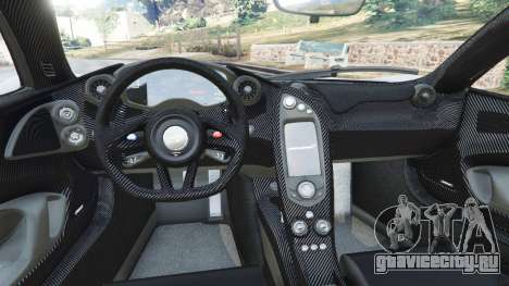 McLaren P1 2015 для GTA 5 вид сзади справа
