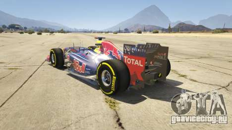 Red Bull F1 v2 redux для GTA 5 вид сзади слева
