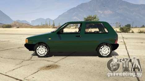 Fiat Uno 1995 для GTA 5 вид слева