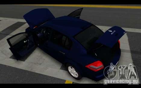 Renault Megane Sedan для GTA San Andreas вид снизу