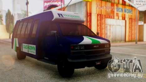 GTA 5 Rental Shuttle Bus Touchdown Livery для GTA San Andreas