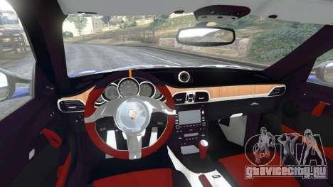 Porsche 997 GT2 RS для GTA 5 вид сзади справа