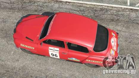 Saab 96 [rally] для GTA 5 вид сзади