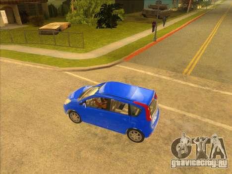 Nissan Note v0.5 Beta для GTA San Andreas вид слева