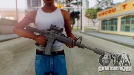 Arma Armed Assault M4A1 Aimpoint Silenced для GTA San Andreas третий скриншот