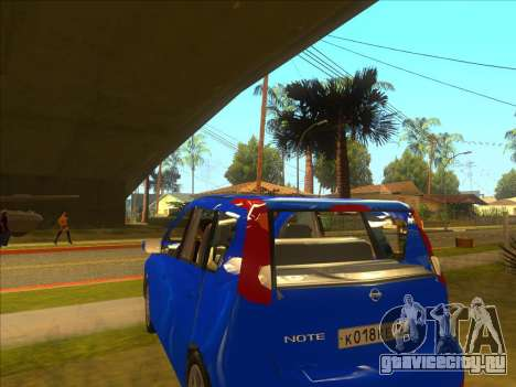 Nissan Note v0.5 Beta для GTA San Andreas вид изнутри
