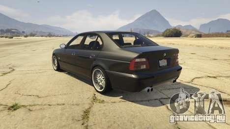 BMW M5 E39 1.1 для GTA 5 вид сзади слева