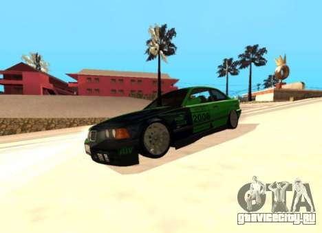 BMW E36 320i для GTA San Andreas вид сзади