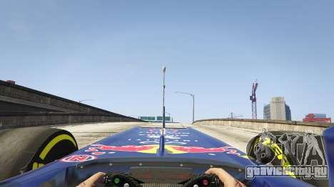 Red Bull F1 v2 redux для GTA 5 вид сзади