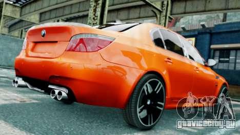 BMW M5 E60 для GTA 4 вид снизу