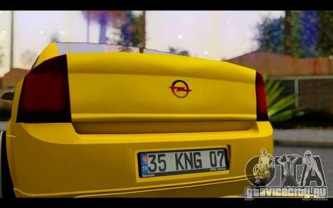 Opel Vectra Special для GTA San Andreas вид изнутри