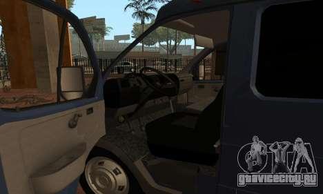 ГАЗель 33023 Нова Пошта для GTA San Andreas вид справа