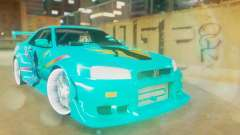 Nissan Skyline GT-R R34 Cyan Edition 2001 для GTA San Andreas