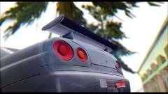 Nissan Skyline R-34 GT-R V-spec 1999 Tunable для GTA San Andreas