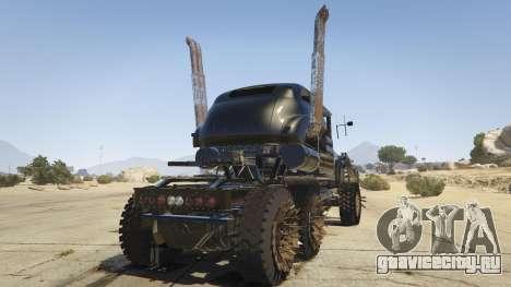 Mad Max The War Rig для GTA 5 вид сзади слева