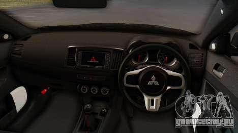 Mitsubishi Lancer Evolution X Stance для GTA San Andreas вид сзади