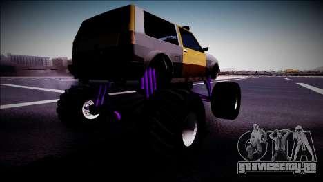 Club Monster Truck для GTA San Andreas вид слева