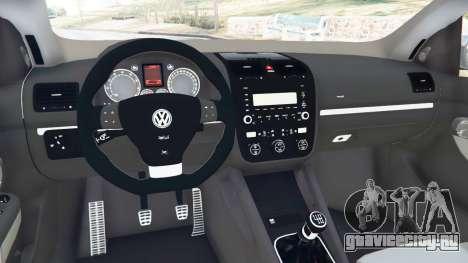 Volkswagen Golf Mk5 GTI 2006 v1.0 для GTA 5 вид сзади справа