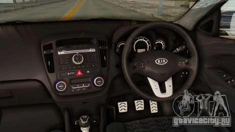 Kia Ceed Stance AirQuick для GTA San Andreas вид изнутри