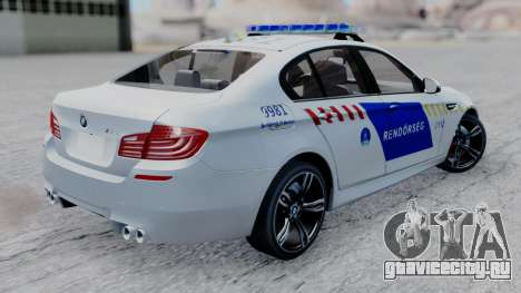 BMW M5 F10 Hungarian Police Car для GTA San Andreas вид слева