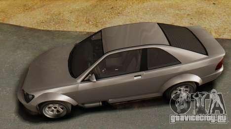 GTA 5 Karin Sultan RS для GTA San Andreas вид сзади