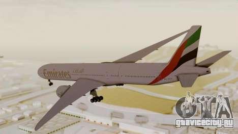 Boeing 777-9x Emirates Airlines для GTA San Andreas вид слева