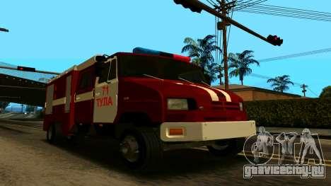 ЗИЛ-5301 для GTA San Andreas вид изнутри
