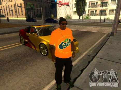 Футболка Fanta для GTA San Andreas второй скриншот