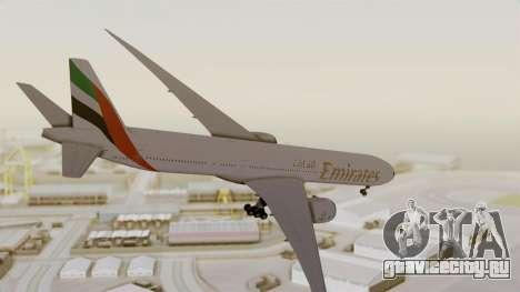 Boeing 777-9x Emirates Airlines для GTA San Andreas вид справа