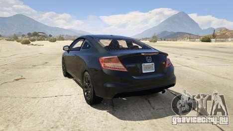 Honda Civic SI для GTA 5 вид сзади слева