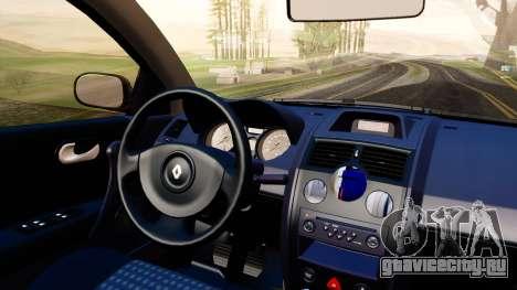 Renault Megane CPJ для GTA San Andreas вид сзади