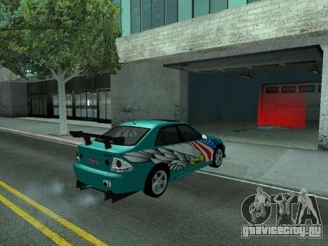 Toyota Altezza Tunable для GTA San Andreas вид изнутри