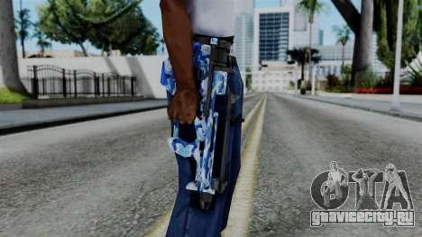 CoD Black Ops 2 - PDW-57 Camo Blue для GTA San Andreas третий скриншот