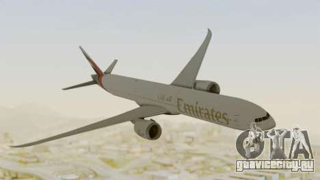 Boeing 777-9x Emirates Airlines для GTA San Andreas вид сзади слева