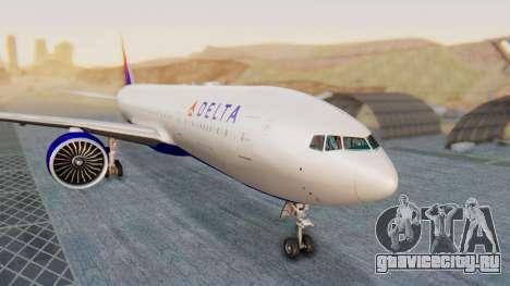 Boeing 777-200LR Delta Air Lines для GTA San Andreas