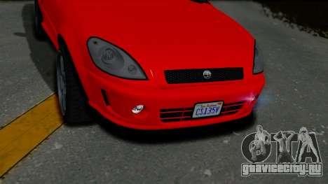 GTA 5 Declasse Premier Coupe IVF для GTA San Andreas вид сзади
