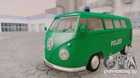 Volkswagen T1 Polizei для GTA San Andreas вид справа