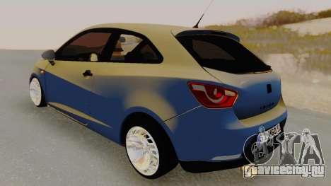 Seat Ibiza для GTA San Andreas вид сзади слева